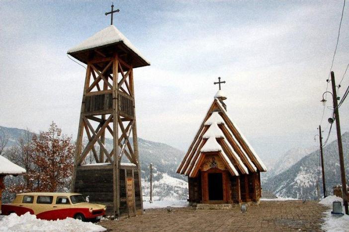 Drvengrad église de Kustendorf