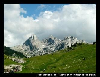 parc naturel ruiste montagnes prenj