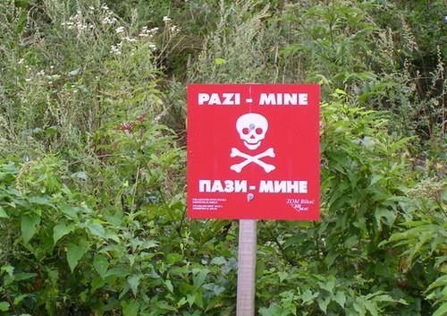 mines en croatie
