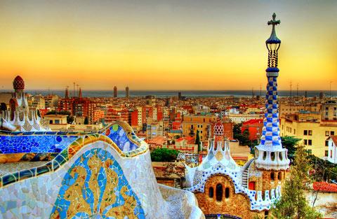 Visiter Barcelone - Parc GÜELL : monument de l'humanité 1