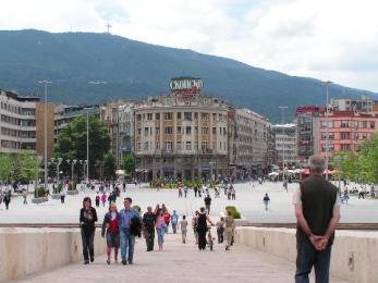 Place principale de Skopje