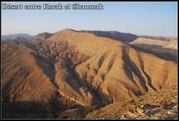 desert Jordanie entre Kerak et Shaumak