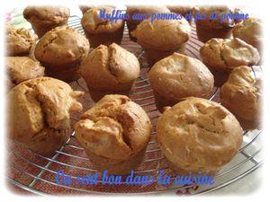 muffins pomme jus de pomme