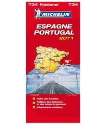 carte michelin espagne portugal