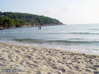 plage de Przina à Lumbarda sur l'île Korcula