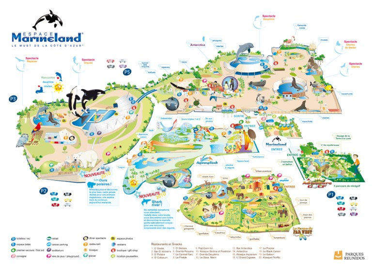 plan marineland antibes