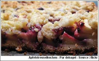 Apfelstreuselkuchen streusel pommes recette allemande