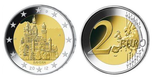 piece 2 euros neuschwanstein souvenir