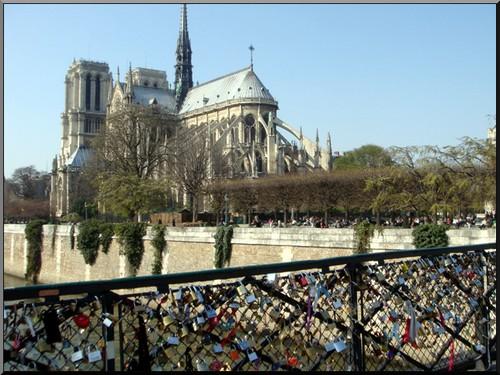 Ile de la cite Notre dame de Paris pont de l'archeveche