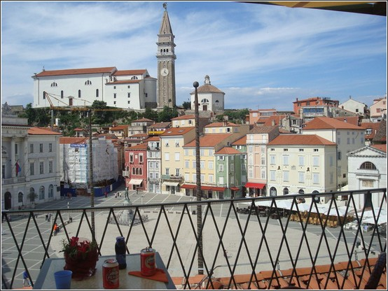 Piran église Piazza Tartini