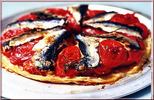 Tarte tomates anchois