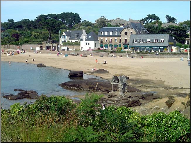 Perros-Guirec plage saint Guirec