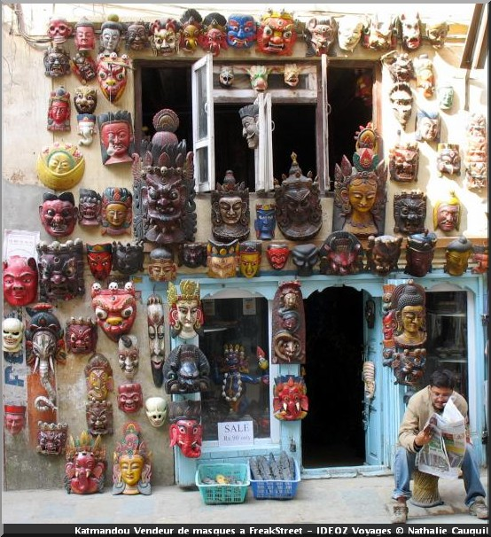 Katmandou nepal Masques freak street
