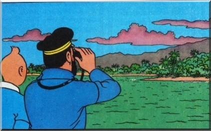 Tintin l'ile noire capitaine haddock