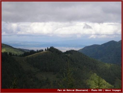 Retezat vue d'en haut parc national roumanie