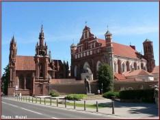Vilnius Lituanie eglise sainte anne
