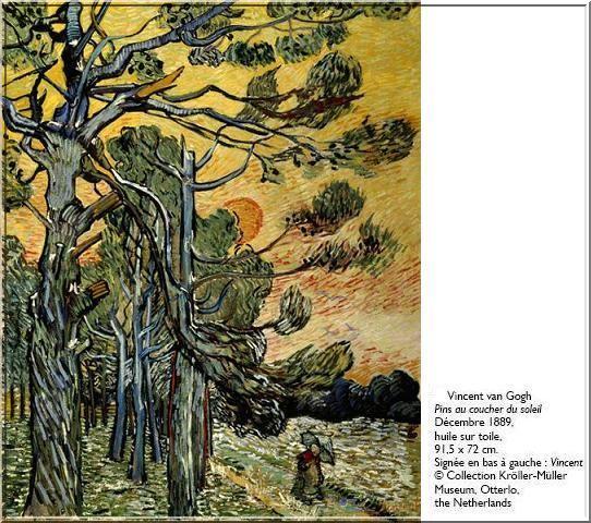 Van Gogh Pin au coucher du soleil