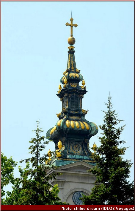 belgrade serbie clocher eglise saborna