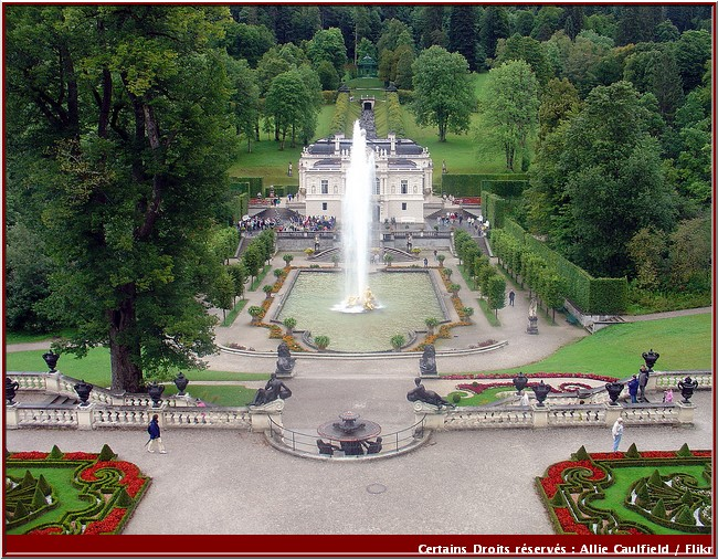 linderhof chateau jardin et fontaine