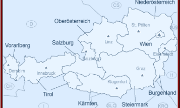 carte autriche regions et villes
