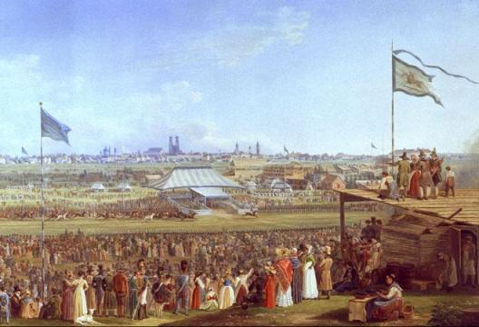 Adam Pferderennen Munich Oktoberfest 1823 Oktoberfest Munich; Fête de la bière de Munich et traditions de la Bavière
