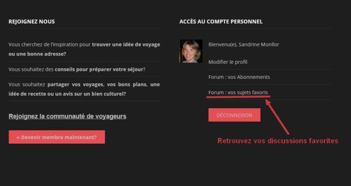 forum bloc pied de page