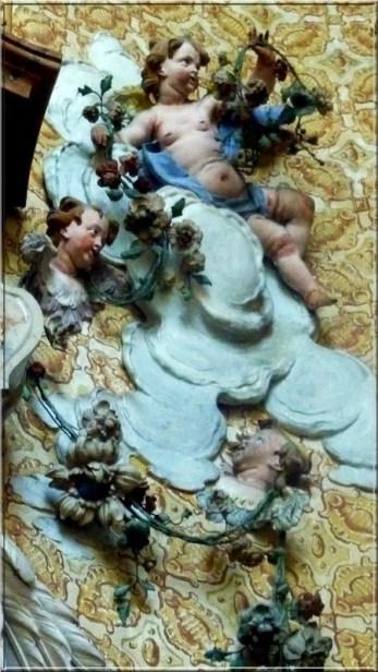 Abbaye Ottobeuren angelots fleurs