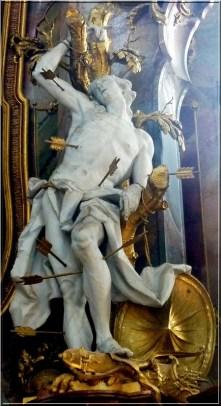 Abbaye Ottobeuren statue fleches