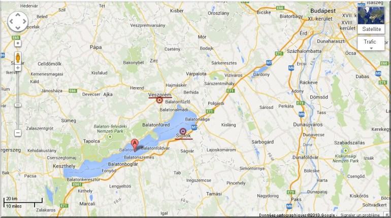lac balaton carte google map