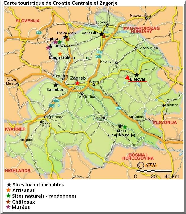 bjelovar Croatie centrale Carte