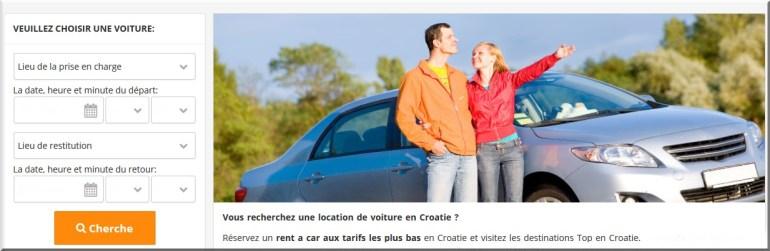 Louer une voiture en croatie