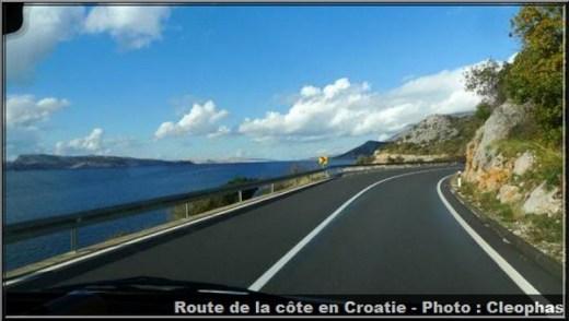 Route cote croatie