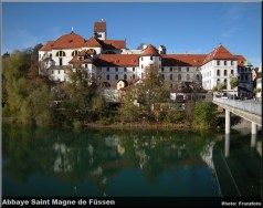 Hohes Schloß und Kloster St. Mang über dem Lech