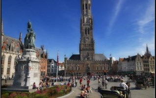 grand place bruges beffroi