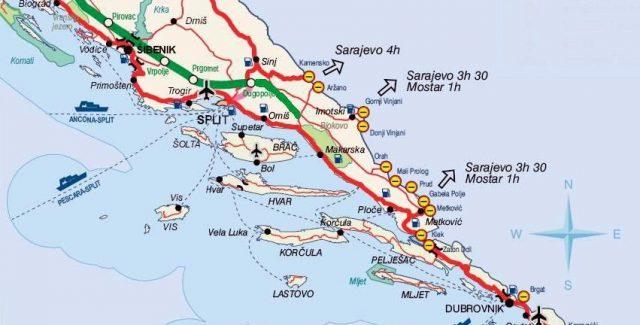 frontieres croatie bosnie dalmatie