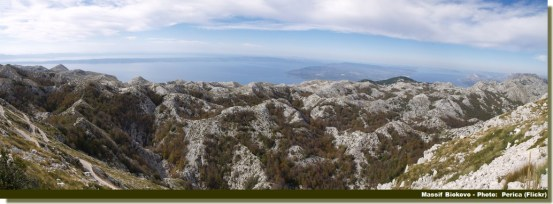 massif Biokovo près de Makarska en Dalmatie Croatie