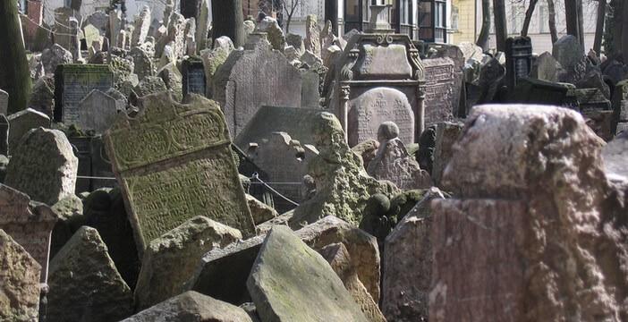 Josefov Prague Vieux cimetiere juif.