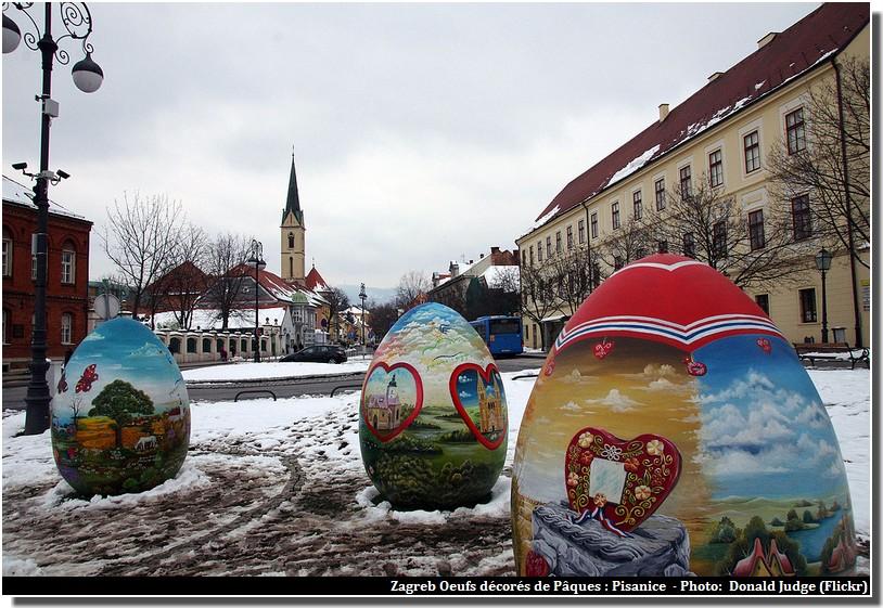 Zagreb Pisanice oeufs decores de paques