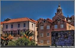 korcula maison et clocher