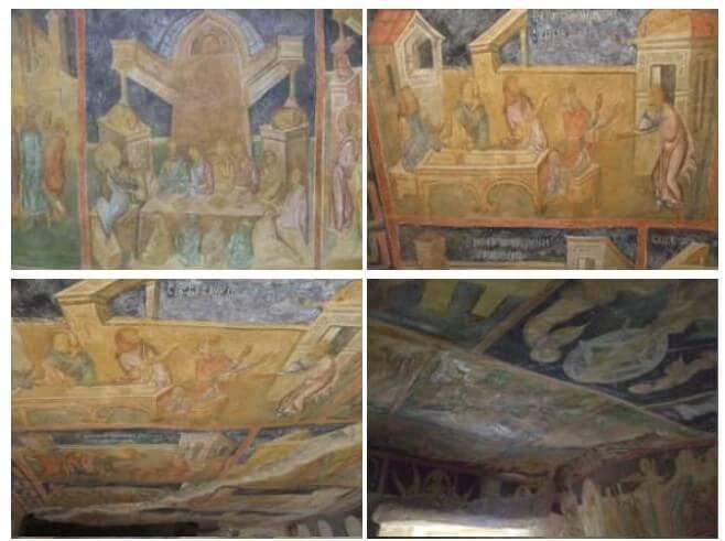 peintures rupestres du monastère Ivanovo en Bulgarie