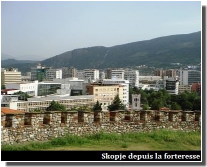 skopje depuis la forteresse