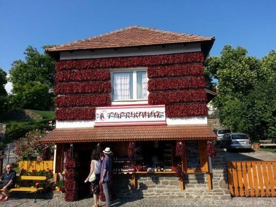 thiany Maison décorée de paprika en Hongrie