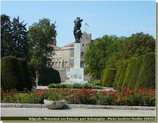 Belgrade Monument aux français parc Kalemegdan