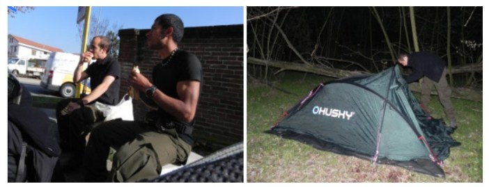 Camping sur la route d'Asti