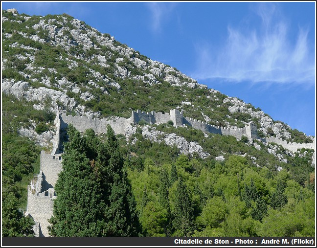 Citadelle de Ston Croatie