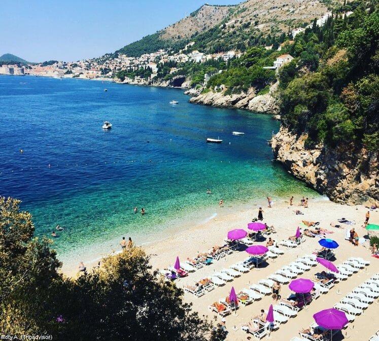 Plage de saint Jakob à Dubrovnik