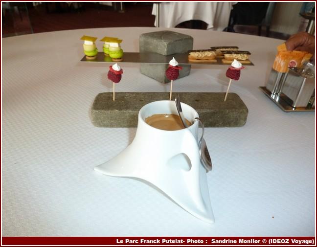 Restaurant Le Parc de Franck Putelat cafe mignardises