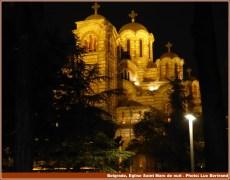 Belgrade eglise Saint Marc de nuit