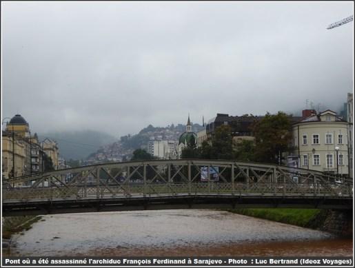Sarajevo pont riviere Miljacka