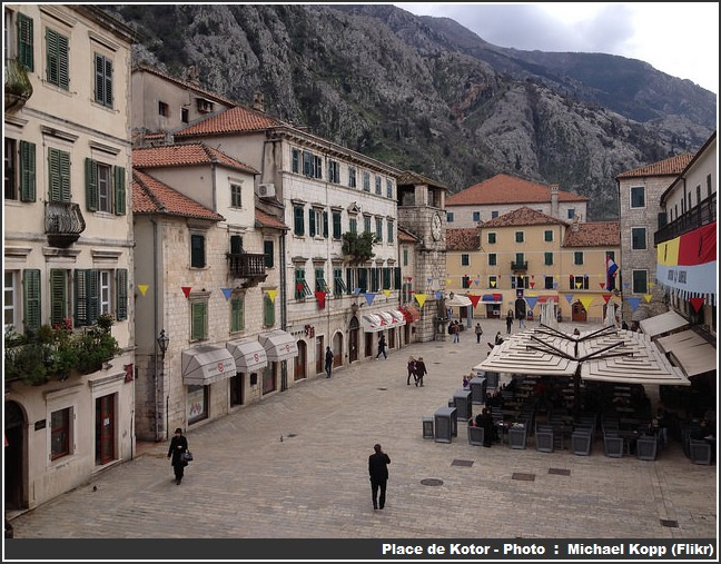 Ville de Kotor terrasses